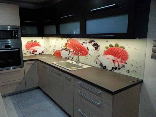 keuken achterwand met foto